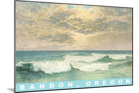 Clouds over Ocean, Bandon, Oregon--Mounted Art Print