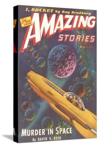 Amazing Stories Magazine Cover--Stretched Canvas Print