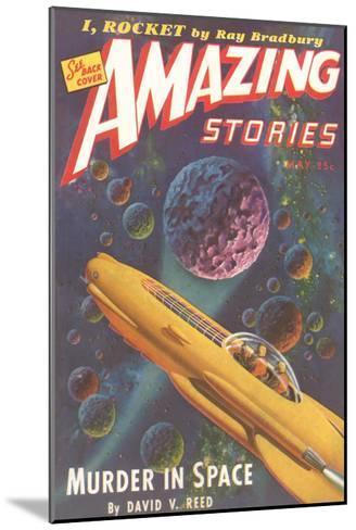 Amazing Stories Magazine Cover--Mounted Art Print