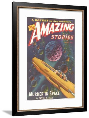 Amazing Stories Magazine Cover--Framed Art Print