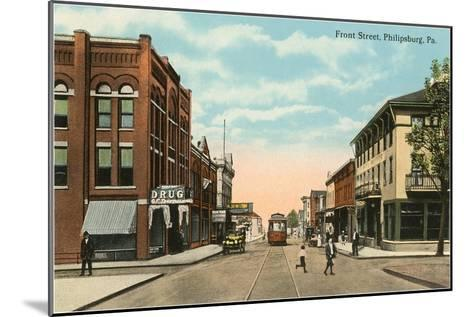 Front Street, Philadelphia, Pennsylvania--Mounted Art Print
