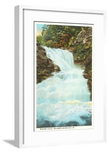 Winona Falls, Delaware Water Gap, Pennsylvania--Framed Art Print