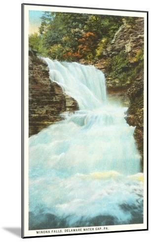 Winona Falls, Delaware Water Gap, Pennsylvania--Mounted Art Print