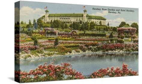 Hershey Rose Garden and Hotel, Hershey, Pennsylvania--Stretched Canvas Print