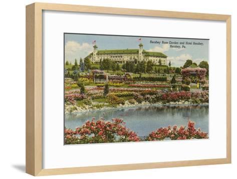 Hershey Rose Garden and Hotel, Hershey, Pennsylvania--Framed Art Print