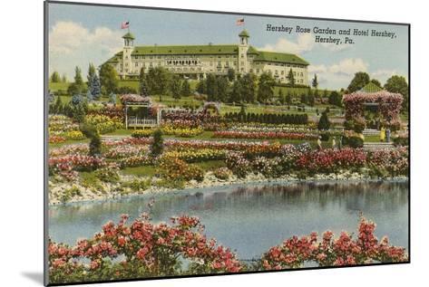 Hershey Rose Garden and Hotel, Hershey, Pennsylvania--Mounted Art Print