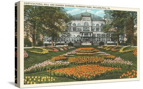 Horticultural Hall, Philadelphia, Pennsylvania--Stretched Canvas Print