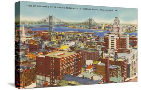 Delaware River Bridge, Philadelphia, Pennsylvania--Stretched Canvas Print