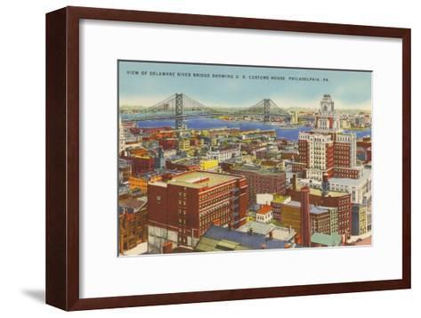 Delaware River Bridge, Philadelphia, Pennsylvania--Framed Art Print