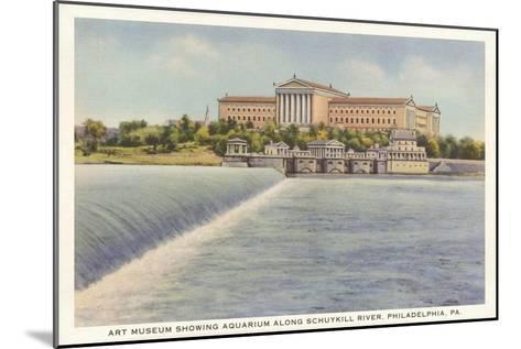 Art Museum, Schuylkill River, Philadelphia, Pennsylvania--Mounted Art Print