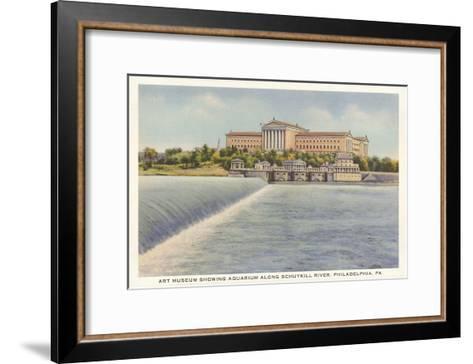 Art Museum, Schuylkill River, Philadelphia, Pennsylvania--Framed Art Print