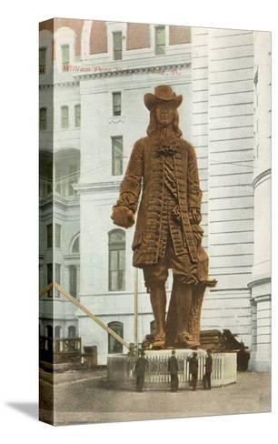William Penn Statue, Philadelphia, Pennsylvania--Stretched Canvas Print