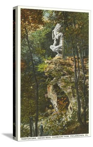 Teddyuscung, Indian Rock, Philadelphia, Pennsylvania--Stretched Canvas Print