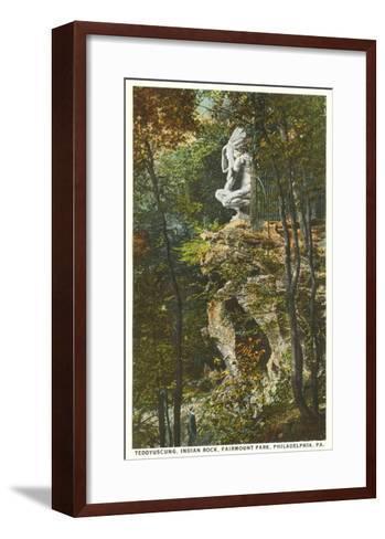 Teddyuscung, Indian Rock, Philadelphia, Pennsylvania--Framed Art Print
