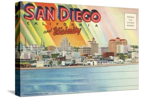 Postcard Folders, San Diego and Vicinity--Stretched Canvas Print