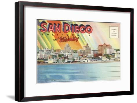 Postcard Folders, San Diego and Vicinity--Framed Art Print