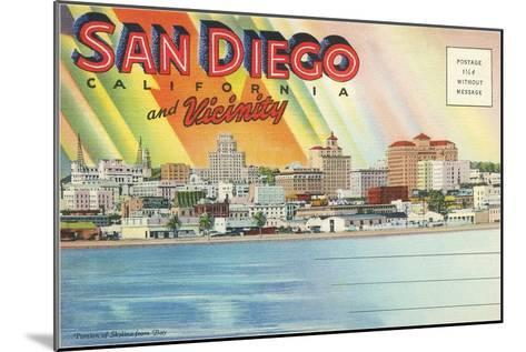 Postcard Folders, San Diego and Vicinity--Mounted Art Print