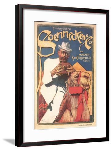 Photographer on Camel--Framed Art Print