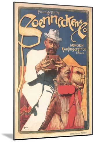 Photographer on Camel--Mounted Art Print