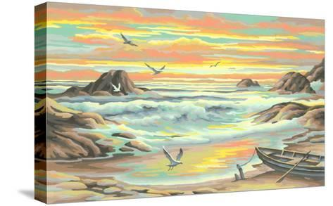 Paint by Numbers, Seascape--Stretched Canvas Print