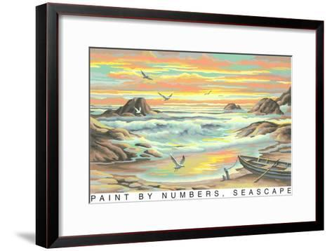 Paint by Numbers, Seascape--Framed Art Print