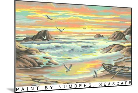 Paint by Numbers, Seascape--Mounted Art Print