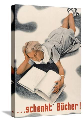 Give Books, German Poster--Stretched Canvas Print