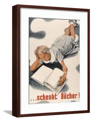 Give Books, German Poster--Framed Art Print