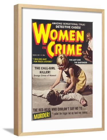 Women in Crime--Framed Art Print