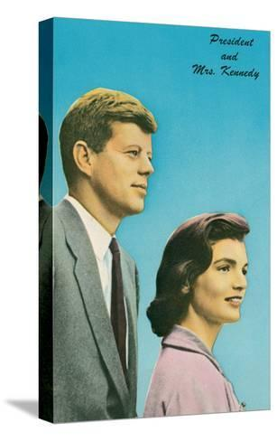President and Mrs. Kennedy--Stretched Canvas Print