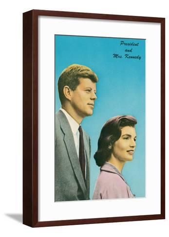 President and Mrs. Kennedy--Framed Art Print