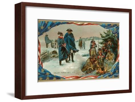 Valley Forge Campfire--Framed Art Print