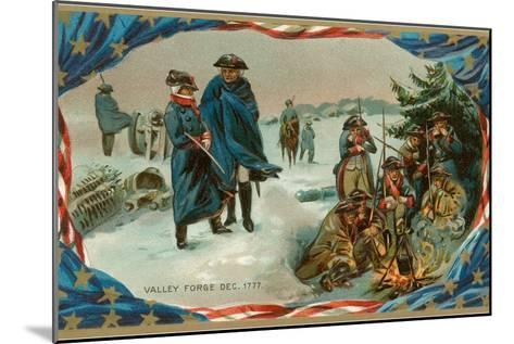 Valley Forge Campfire--Mounted Art Print