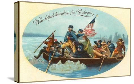 Washington Crossing the Delaware--Stretched Canvas Print