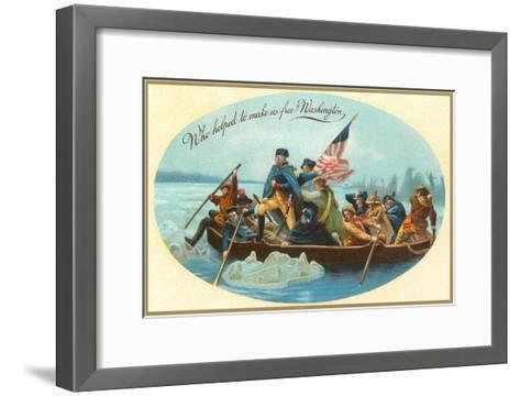 Washington Crossing the Delaware--Framed Art Print