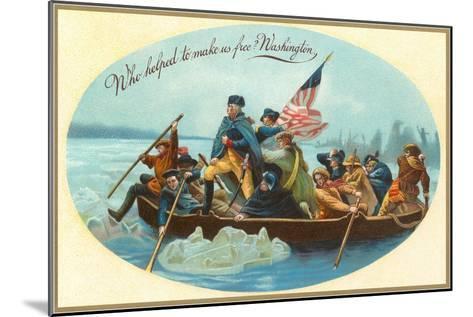 Washington Crossing the Delaware--Mounted Art Print