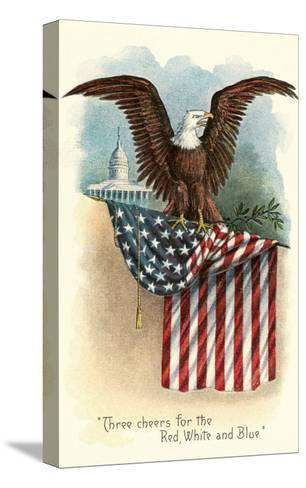 Capitol, Eagle and Flag--Stretched Canvas Print