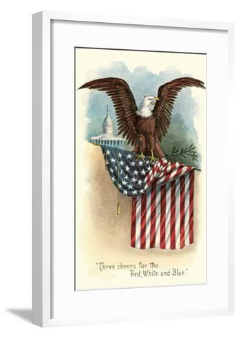 Capitol, Eagle and Flag--Framed Art Print