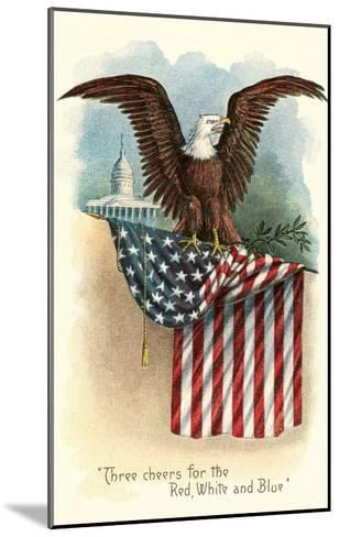 Capitol, Eagle and Flag--Mounted Art Print