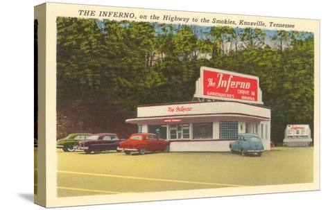 The Inferno Drive-In, Roadside Retro--Stretched Canvas Print