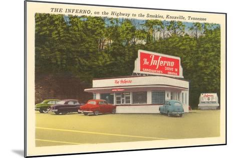 The Inferno Drive-In, Roadside Retro--Mounted Art Print