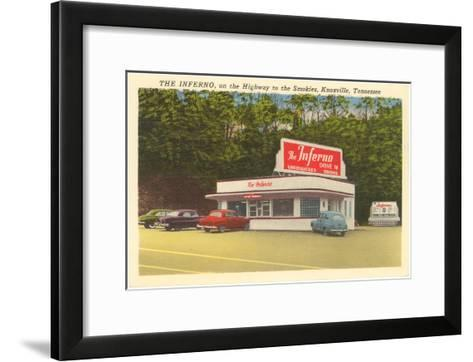 The Inferno Drive-In, Roadside Retro--Framed Art Print