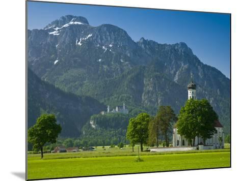 Germany, Bavaria (Bayern), Neuschwanstein Castle and Kolomanskirche-Alan Copson-Mounted Photographic Print