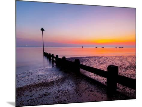 UK, England, Essex, Thames Estuary, Southend, Shoeburyness at Sunset-Alan Copson-Mounted Photographic Print