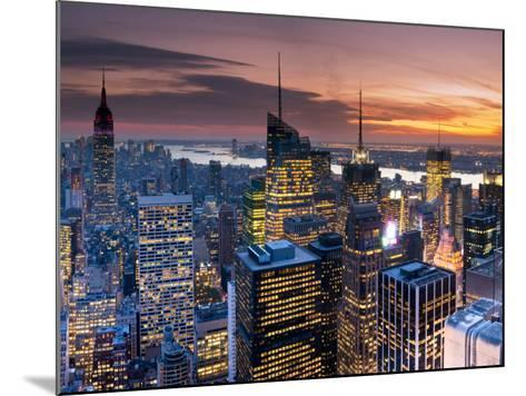 USA, New York, Manhattan, Empire State Building and Midtown from the Rockefeller Center-Alan Copson-Mounted Photographic Print