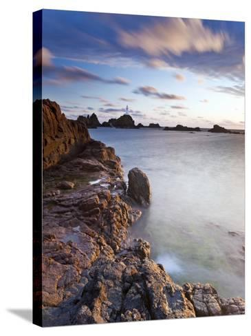 Corbiere Lighthouse at Sunset, Jersey, Channel Islands, UK-Gavin Hellier-Stretched Canvas Print