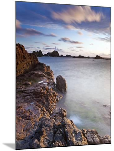 Corbiere Lighthouse at Sunset, Jersey, Channel Islands, UK-Gavin Hellier-Mounted Photographic Print