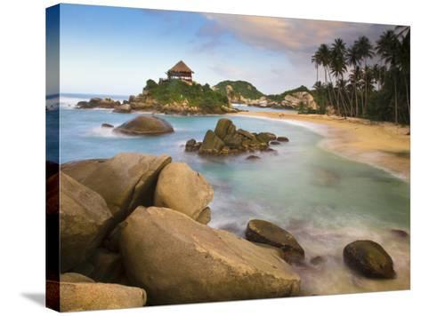 Colombia, Magdalena, Park Nacional Natural Tayrona, El Cabo, Beach-Jane Sweeney-Stretched Canvas Print