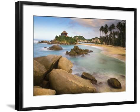 Colombia, Magdalena, Park Nacional Natural Tayrona, El Cabo, Beach-Jane Sweeney-Framed Art Print