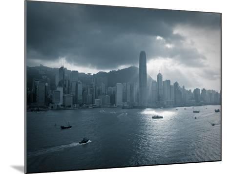 Skyline of Hong Kong Island Viewed across Victoria Harbour, Hong Kong, China-Jon Arnold-Mounted Photographic Print